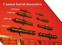 Product detaildecorative cannon barrel - lenght 45 mm