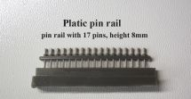 Product detailPlastic pin rail with 17 pins, weight 8mm
