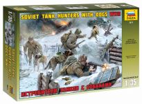 Detail k výrobku Model Kit figurky 3611 - Soviet Tank Hunters with dogs (1:35)