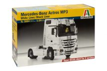"Product detailModel Kit truck 3884 - MERCEDES-BENZ ACTROS Mp3 ""BLACKLINER"" White Liner (1:24)"