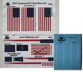 Product detailUSS Constitution/ United States - set of Flags ans Draft scales