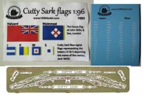 Product detailCutty Sark - set of Flags, Photo-etched ornaments and Draft sacale