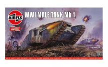 Product detailClassic Kit VINTAGE tank A01315V - WWI Male Tank Mk.I (1:76)